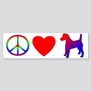Peace, Love, Smooth Fox Terrier Bumper Sticker