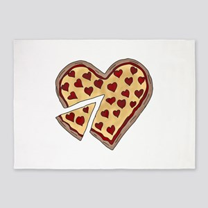 Piece of My Heart Pizza 5'x7'Area Rug