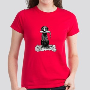Curly-Coated Retriever with Bumper Women's Dark T-