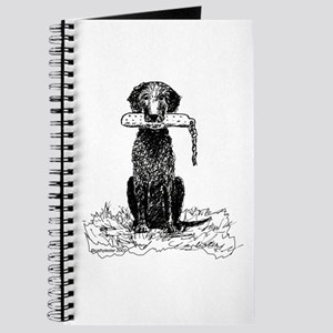 Curly-Coated Retriever with Bumper Journal