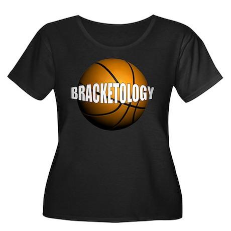 Bracketology Women's Plus Size Scoop Neck Dark T-S