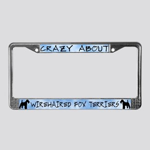 Crazy About WH Fox Terriers License Plate Frame