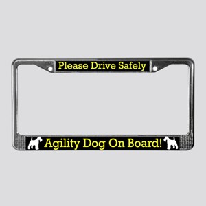 WH Fox Terrier Agility Dog License Plate Frame