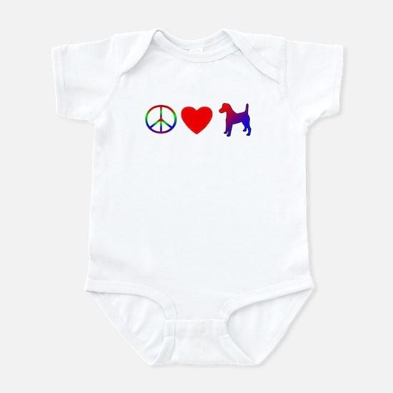 Peace Love Smooth Fox Terrier Infant Bodysuit