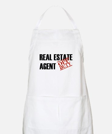 Off Duty Real Estate Agent BBQ Apron