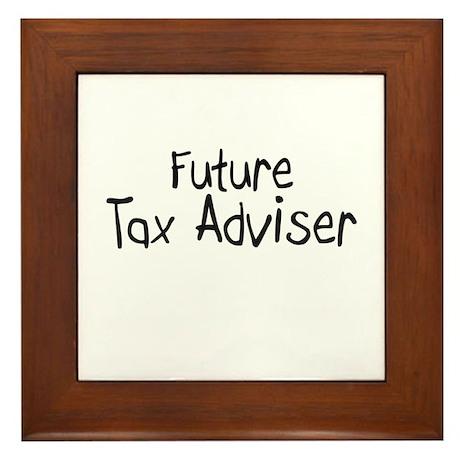 Future Tax Adviser Framed Tile