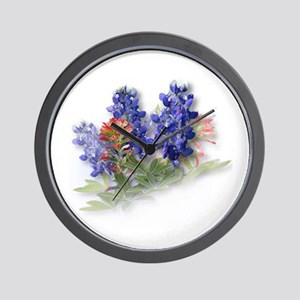 Bluebonnets with Indian Paint Wall Clock