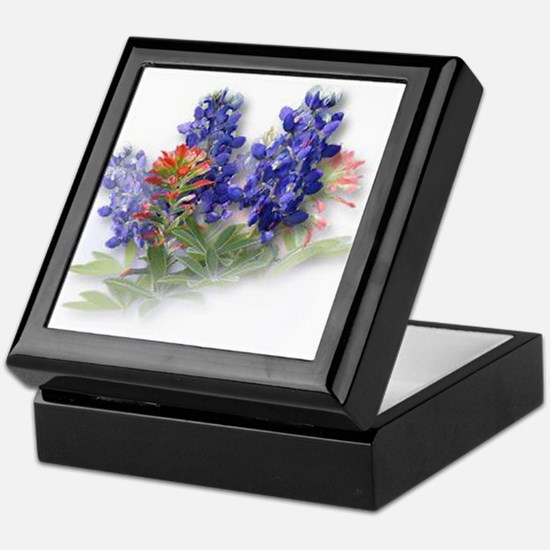 Bluebonnets with Indian Paint Keepsake Box