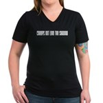 Creeps Out Like the Shadow Women's V-Neck Dark T-S