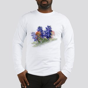 Bluebonnets with Indian Paint Long Sleeve T-Shirt