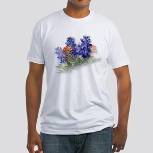 Bluebonnets with Indian Paint Fitted T-Shirt