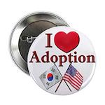 I Love Adoption Button (Korea/USA)