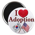 I Love Adoption Magnet (Korea/USA)
