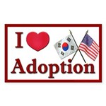 I Love Adoption Sticker (Korea/USA)