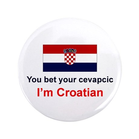 "Croatian Cevapcic 3.5"" Button"