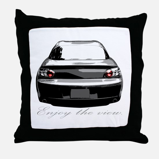 "RX8 ""Enjoy the view."" Throw Pillow"