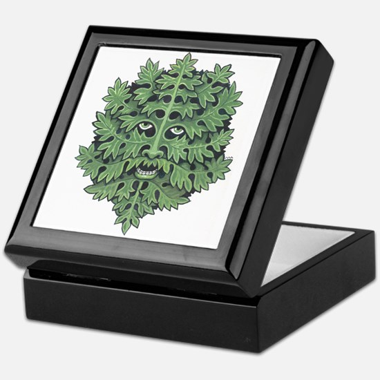 Green Man Keepsake Box