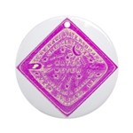 Pink Square Meter Cover Ornament (Round)