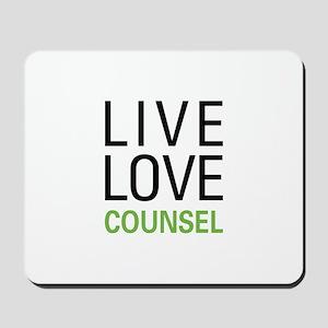 Live Love Counsel Mousepad