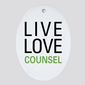 Live Love Counsel Ornament (Oval)