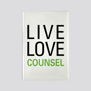 Live Love Counsel Rectangle Magnet