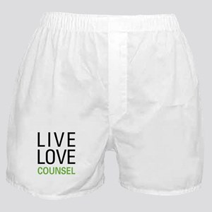 Live Love Counsel Boxer Shorts