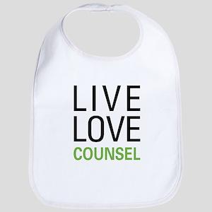 Live Love Counsel Bib