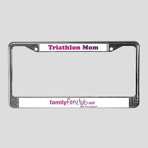 Triathlon Mom License Plate Frame