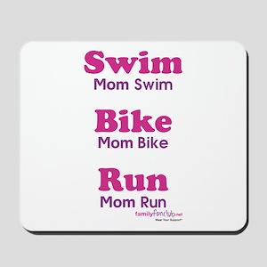 Triathlon Mom Mousepad