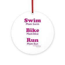 Triathlon Mom Ornament (Round)