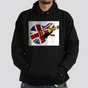 Union Jack Flag Guitar Hoodie (dark)
