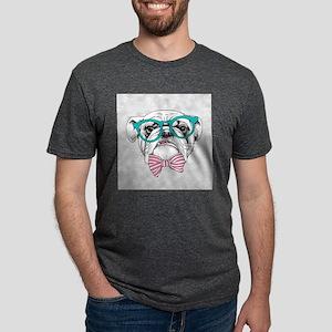 Hipster Bulldog Mens Tri-blend T-Shirt