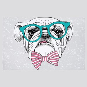 Hipster Bulldog 4' x 6' Rug