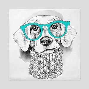 Hipster Dog Queen Duvet