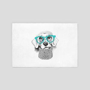 Hipster Dog 4' x 6' Rug
