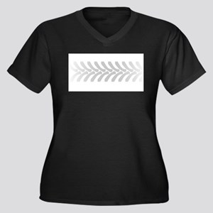 Halftone Tractor Tyre Marks Plus Size T-Shirt