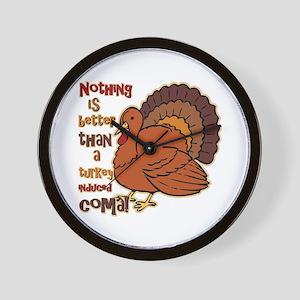 Turkey Induced Coma Wall Clock