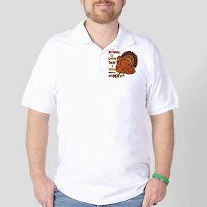Turkey Induced Coma Golf Shirt