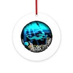 Blue Mermaid Ceramic Pendant