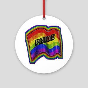 WAVY RAINBBOW FLAG/PRIDE Ornament (Round)