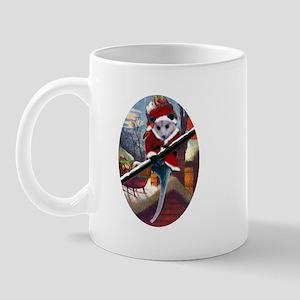 Possum Santa on Rooftop Mug
