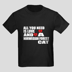 All You Need Is Love Norwegian F Kids Dark T-Shirt