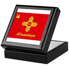 Albuquerque Flag Keepsake Box