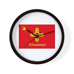 Albuquerque Flag Wall Clock