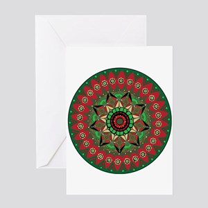 Christmas Mandala Zen Spiritual Greeting Card