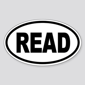 READ Oval Sticker