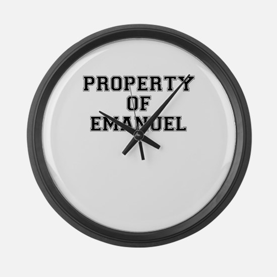 Property of EMANUEL Large Wall Clock