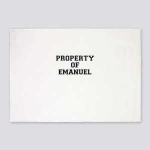 Property of EMANUEL 5'x7'Area Rug