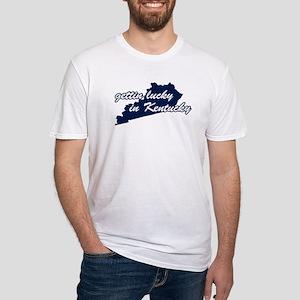 Gettin' Lucky in Kentucky Fitted T-Shirt