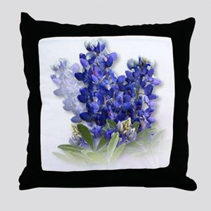 Bluebonnet Spray Throw Pillow
